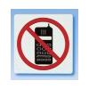APLI Mobiltelefon használata tilos, öntapadó címke, 114 x 114 mm