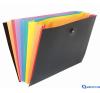 VIQUEL Rainbow Class 8 rekeszes harmonika táska fekete mappa