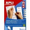 APLI 4 pályás etikett 52 5 x 21 2 mm 5600 etikett/csomag 100 lap/csom