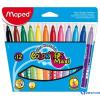 MAPED COLOR`PEPS MAXI mosható filctoll 12 db/csomag