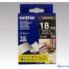 Brother 18 mm-es szalag fekete alap/fehér betű