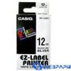 Casio 12mm x 8m szalag fehér-fekete