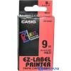 Casio 9mm x 8m szalag piros-fekete
