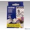 Brother 6 mm-es szalag átlátszó alap/fekete betű