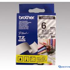 Brother 6 mm-es szalag átlátszó alap/fekete betű címkézőgép