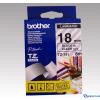 Brother 18 mm-es szalag átlátszó alap/fekete betű