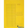 VICTORIA Karton pólyás dosszié sárga 5db/csom