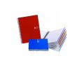 MIQUELRIUS Note Book 6 spirálfüzet, műanyag borítós, vonalas, A5, piros