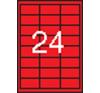 APLI 3 pályás színes etikett, 70 x 37 mm, piros, 2400 etikett/csomag etikett
