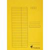 VICTORIA Karton pólyás dosszié, sárga
