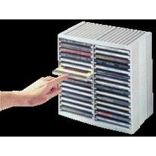 FELLOWES Automata kiemelőrendszerű CD-tároló, 30+18 db-os, fekete írható és újraírható média