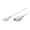 Hálózati hosszabbító 5m fehér euró dugós HO3VVH2-F 2 x 0,75 mm²