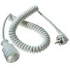 AS Schwabe AS SCHWABE Hálózati hosszabbító spirálkábeles 2,5m fehér HO5VV-F 3 G 1,5 mm²