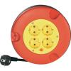 Kábeldob 5m piros-sárga 4 részes H05VV-F 3 G 1,5 mm², 230V