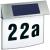 Esotec Esotec napelemes világítós házszámtábla, rozsdamentes acél, Vision 102200 LED