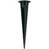 Conrad SLV Tartozék kültéri világításhoz Műanyag földbe szúrható cövek Nautilus Spike900011 Fekete