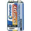 Conrad energy 9V akku NiMh 250 mAh