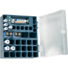 Akku box 4 db 2400 mAh-s ceruza-, 4 db 700 mAh-s mikro- és 2 db 160 mAh-s 9 V-os akkuval