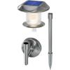 Conrad Esotec Napelemes kerti fényforrás Napelemes lámpa Sunnylight102093 LED max. 12 óra Nemesacél Fixen beépített LED-es
