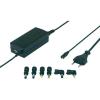 Voltcraft Univerzális notebook adapter,  BASIC LINE, 9.5V/12V/15V/18V/19V/20V / 3,3 A, max 45, Voltcraft WNPS-45 USB