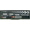 Proxxon Industrial Proxxon 27 részes autós racsnis dugókulcs készlet, racsnis krova készlet 6,3mm (1/4?) 12,5mm (1/2?)