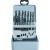 Toolcraft Acélfúró készlet 19 részes, HSS R DIN338 RN