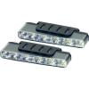 Devil Eyes Devil Eyes LED-es nappali fényszórók, 5 LED, 160x25x55,1 mm, ezüst