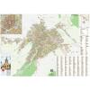 Stiefel Eurocart Kft. Nagyszeben város (Románia) térképe, tűzhető, keretes