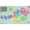 Stiefel Eurocart Kft. Ausztria irányítószámos térképe, mágnesezhető, fémkerettel