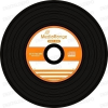 MediaRange CD-R 52x Black Vinyl cake (50) /MR225/