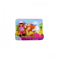 Simba Évi baba zsokéruhában - fehér lóval baba