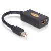 DELOCK DeLock mini Displayport > HDMI pin female
