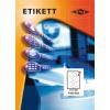 Etikett címke pd 117.5-es átmérő CD-hez 200 db/doboz