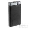4smarts VoltHub Leatherette műbőr külső akkumulátor (Power Bank) LED állapotjelzővel, QC 3.0, 3A, 20000mAh, fekete