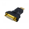4world Adapter HDMI [M] > DVI-I [F] (24+5), fekete