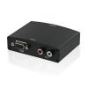 4world Konverter VGA + R/L Audio to HDMI