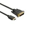 4world Monitor kábel DVI-D (24 +1) - HDMI (19) M / M 1.8m - Retail