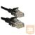 4world Patchcord RJ45, törésgátló , Cat. 5e UTP, 0,5m, fekete
