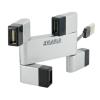 4world USB- Hub Rectangle 4-ports ezüst