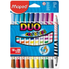 MAPED COLOR PEPS DUO mosható filctoll, 10 db/doboz (20 szín)