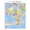 Stiefel Eurocart Kft. Afrika politikai és irányítószámos térképe, fémléces