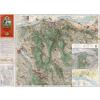 Stiefel Eurocart Kft. A Gerecse és Gete térképe fakeretben (1936)