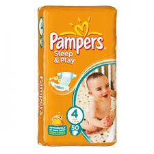 Pampers Sleep & Play 4 Pelenka 50 db pelenka