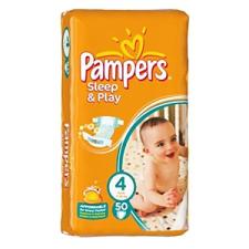 Pampers Sleep & Play 4 Pelenka 50 db pelenka