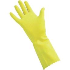 CleanGo Háztartási kesztyű, sárga, méret: 8
