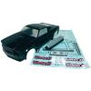 Reely 1:10 karosszéria, Mustang Hot Rod Reely 210114P3E Ersatzteil, 265 mm, fekete, 1:10