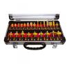 Extol felsőmaró klt. 24db (alu kofferben) ; 8mm-es befogással, keményfém lapkás (44039) felsőmaró