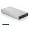 DELOCK 3.5 SATA HDD / USB 3.0,  Aluminium Silver