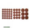 csúsztatófilc készlet bútorhoz 43db-os ; 20-38mm barkácsszerszám