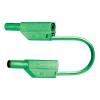 MultiContact SLK 425 E-PVC 1000V-ig szigetelt, 4 mm-es egymásba rakható, toldható dugóval ellátott, 50cm hosszú zöld színű biztonsági mérővezeték, mérőkábel